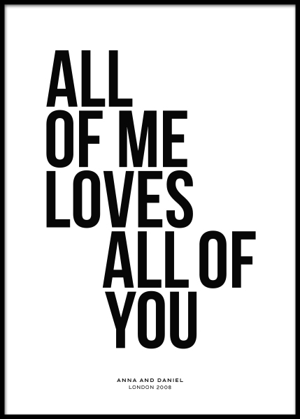 All of Me Personal Poster in the group Posters & Prints / Personalized wall art at Desenio AB (pp0001)