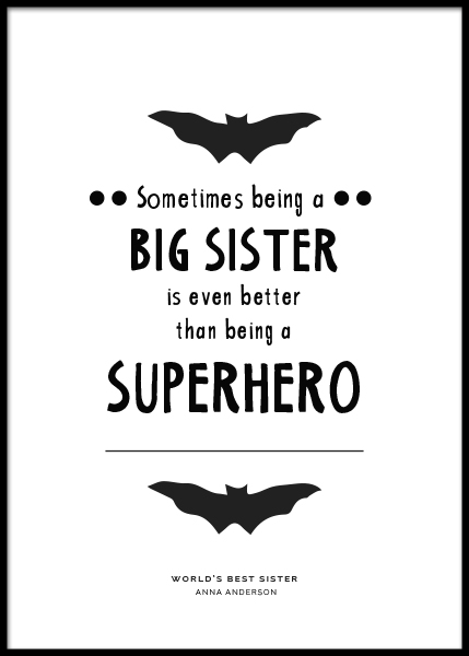 Big Sister Personal Poster in the group Posters & Prints / Personalized wall art at Desenio AB (pp0004)