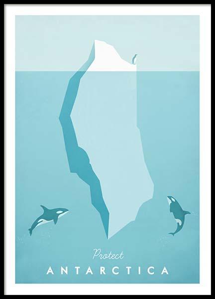 Antarctica Travel Poster