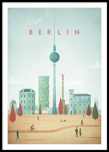 Berlin Travel Poster
