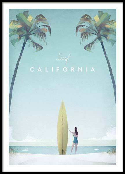 California Travel Poster in the group Posters & Prints / Vintage at Desenio AB (pre0008)
