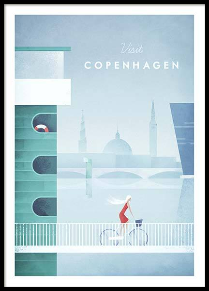 Copenhagen Travel Poster in the group Posters & Prints / Handpicked / Henry Rivers at Desenio AB (pre0009)