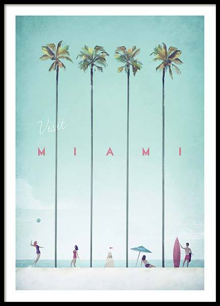 Miami Travel Poster in the group Posters & Prints at Desenio AB (pre0010)