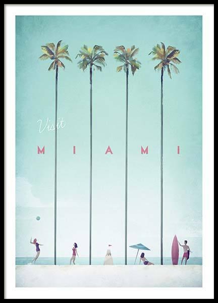 Miami Travel Poster