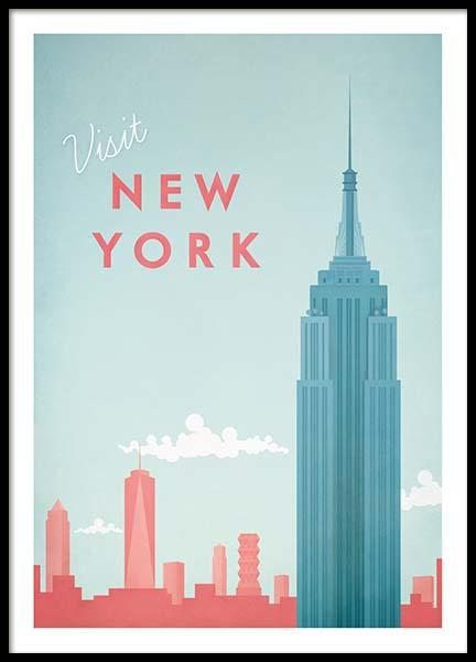 New York Travel Poster in the group Posters & Prints / Handpicked / Henry Rivers at Desenio AB (pre0011)