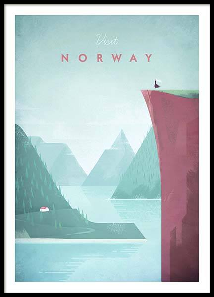 Norway Travel Poster in the group Posters & Prints / Vintage at Desenio AB (pre0012)
