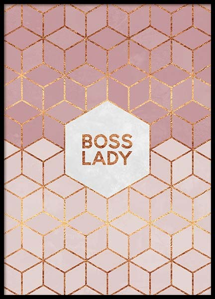 Boss Lady Poster in the group Posters & Prints / Text posters at Desenio AB (pre0015)