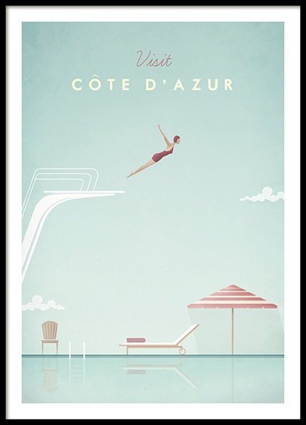 Cote d'Azur Poster in the group Posters & Prints / Vintage at Desenio AB (pre0038)