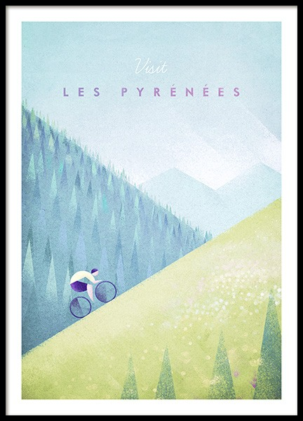 Les Pyrenees Poster in the group Posters & Prints / Vintage at Desenio AB (pre0039)