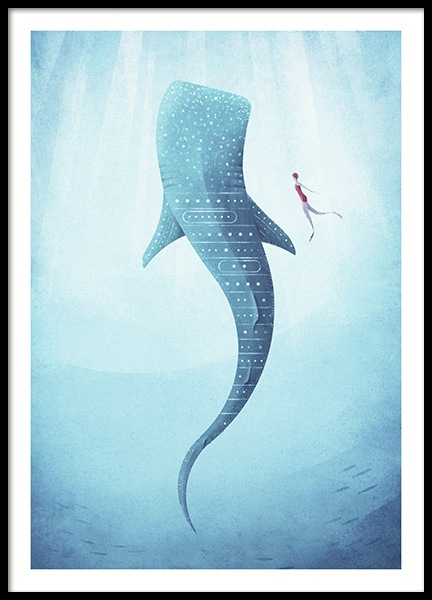 Whale Shark Poster in the group Posters & Prints / Vintage at Desenio AB (pre0040)