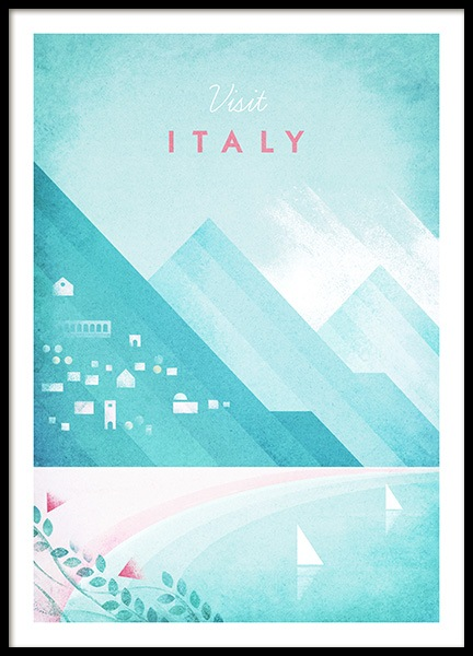 Visit Italy Poster in the group Posters & Prints / Vintage at Desenio AB (pre0042)