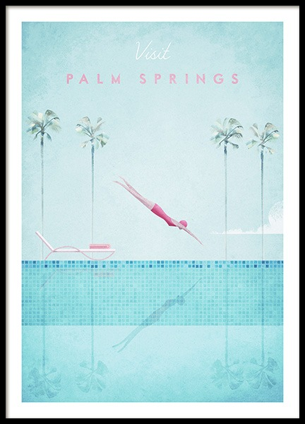 Visit Palm Springs Poster in the group Posters & Prints / Handpicked / Henry Rivers at Desenio AB (pre0043)