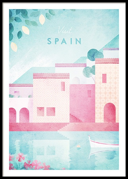 Visit Spain Poster in the group Posters & Prints / Handpicked / Henry Rivers at Desenio AB (pre0044)