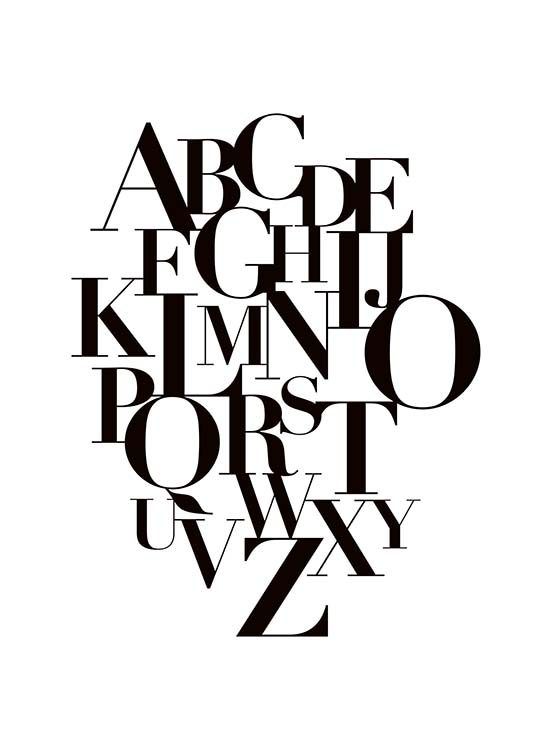 Alphabet Poster / Kids posters at Desenio AB (10015)