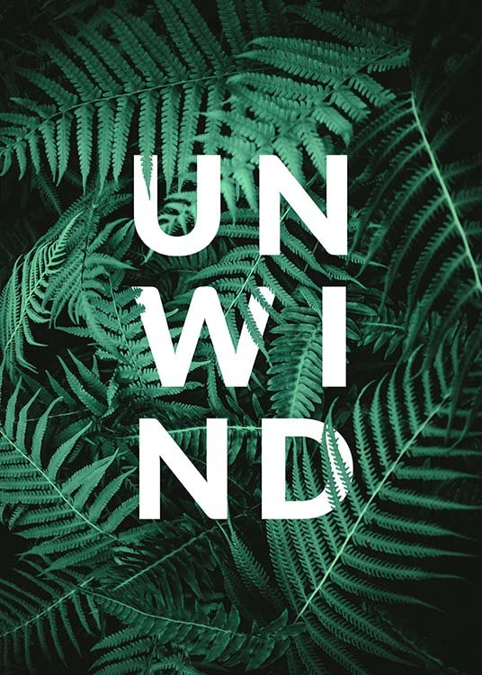 Unwind Poster / Text posters at Desenio AB (10139)