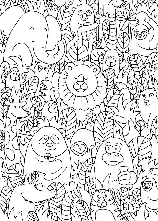 Jungle Friends Poster / Kids posters at Desenio AB (10205)