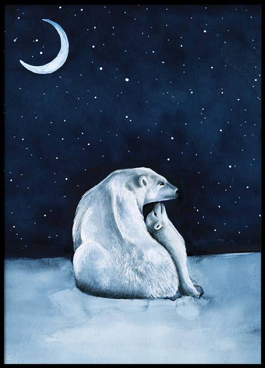 Polar bear night sky poster thecheapjerseys Image collections