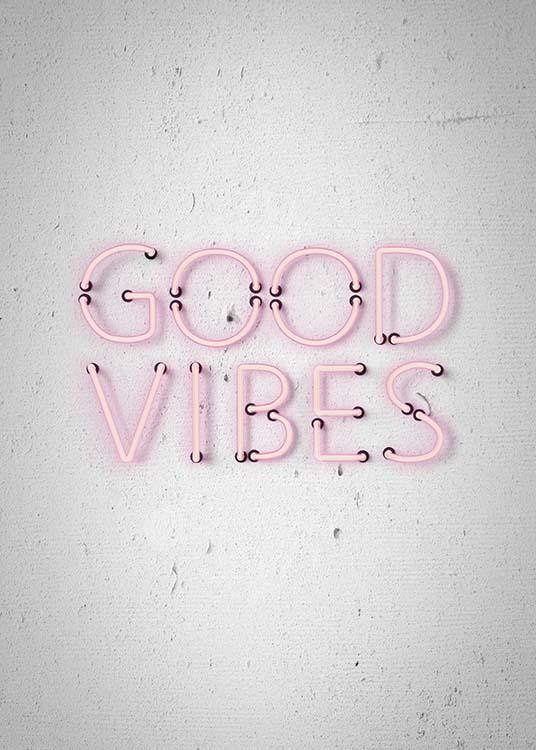 Good Vibes Poster / Text posters at Desenio AB (10303)