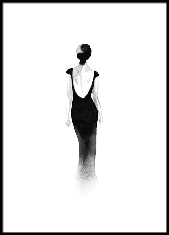 Fashion Silhouette No2 Poster