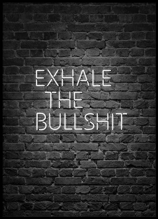 Exhale The Bullshit Poster