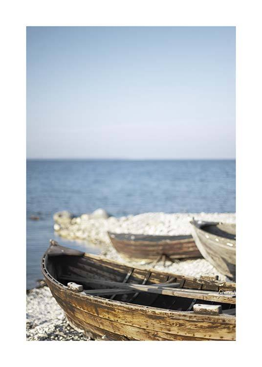 Wooden Boats Poster / Nature at Desenio AB (10476)