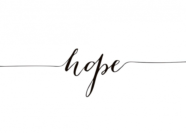 Hope Poster / Text posters at Desenio AB (10508)