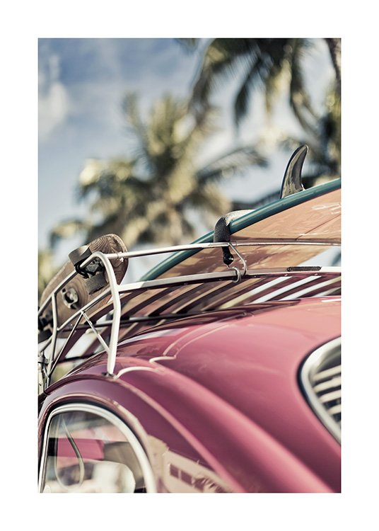 Vintage Surf Car Poster / Photography at Desenio AB (10644)