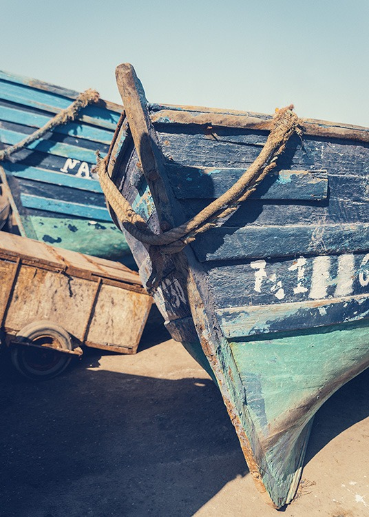Blue Boats Poster / Nature at Desenio AB (10698)