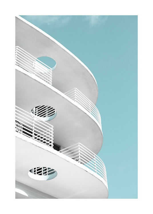 Art Deco Ocean Drive Poster / Architecture  at Desenio AB (10766)
