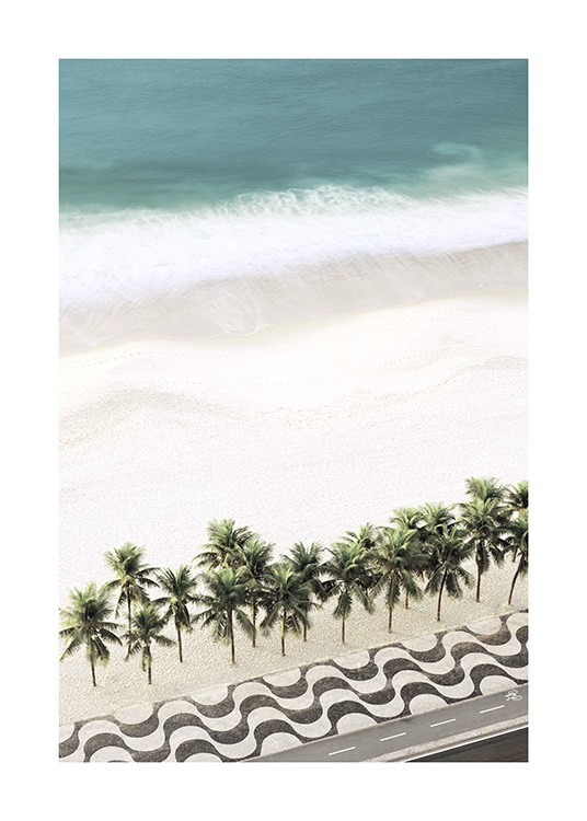 Row of Palm Trees Poster / Tropical at Desenio AB (10887)