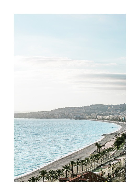 Beach View in Nice Poster / Nature at Desenio AB (10897)