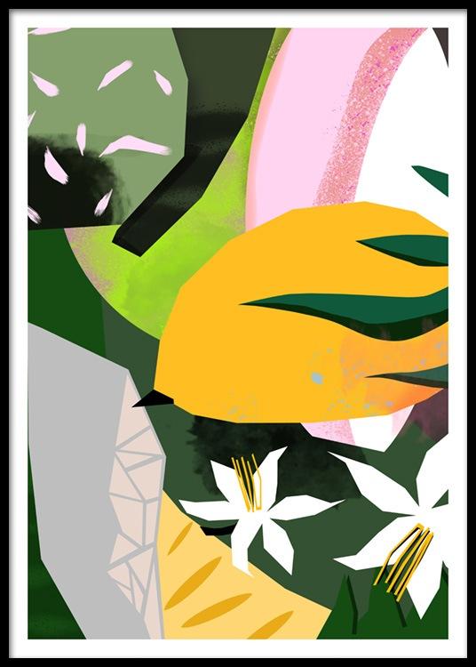 Abstract Garden No3 Poster