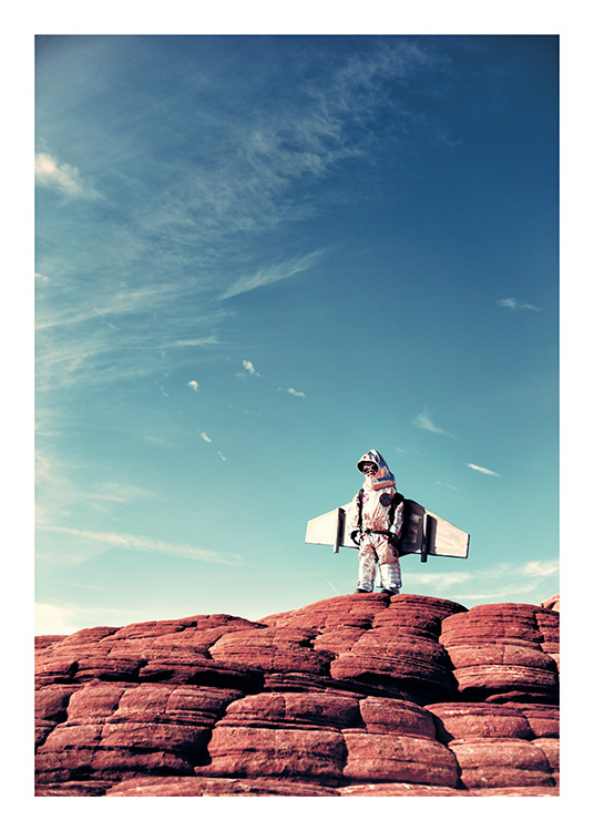 Little Astronaut Poster / Kids posters at Desenio AB (11160)