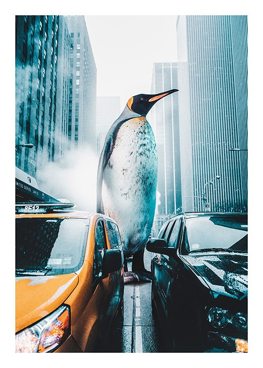 Penguin City Poster / Insects & animals at Desenio AB (11208)