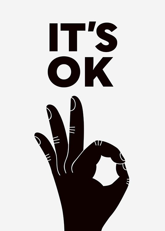 It's OK Poster / Text posters at Desenio AB (11225)