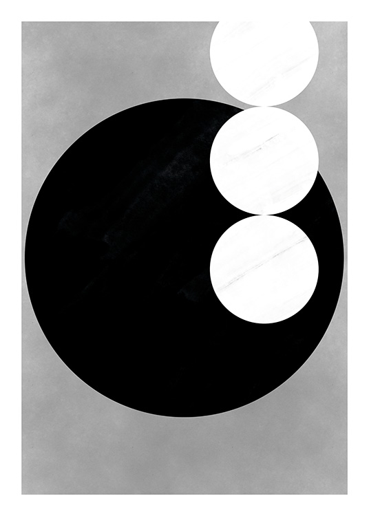 Black & White Shapes No3 Poster / Black & white at Desenio AB (11230)