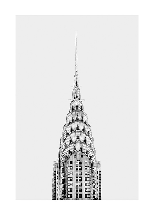 Chrysler Building Poster / Black & white at Desenio AB (11306)