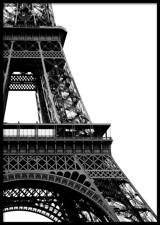 Eiffel Tower Close Up Poster In The Group Studio Collections Cosmopolitan Paris At