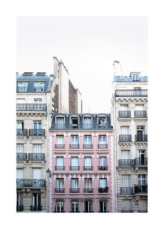 Pink Facade in Paris Poster / Photography at Desenio AB (11348)