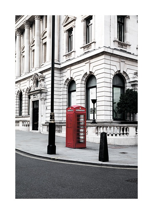 Red Telephone Box Poster / Photography at Desenio AB (11362)