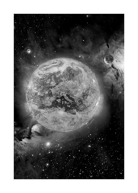 In Space Poster / Black & white at Desenio AB (11436)