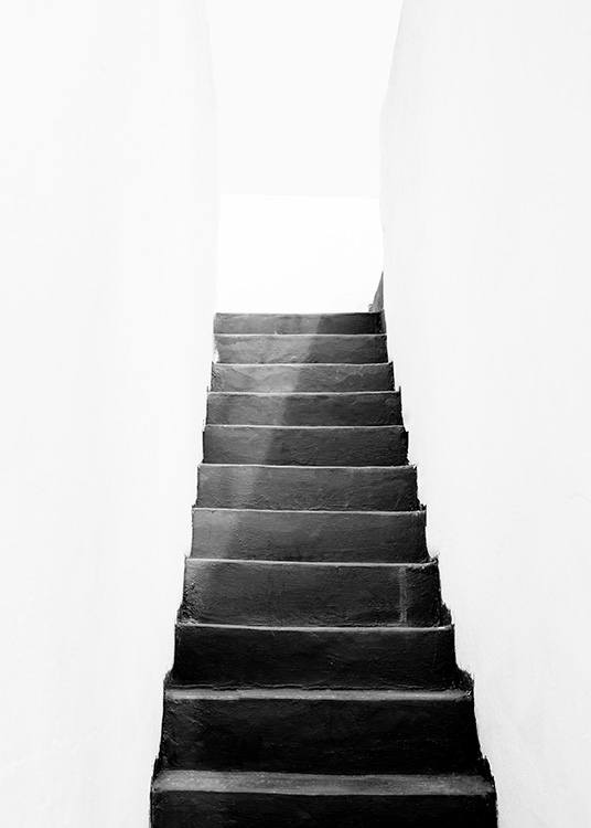 Black and White Stairs Poster / Black & white at Desenio AB (11484)