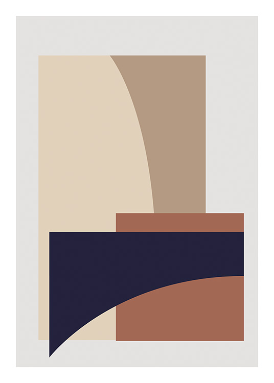 Split No2 Poster / Abstract wall art at Desenio AB (11543)