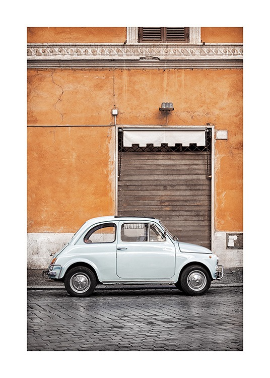 Vintage Car in Rome Poster / Photography at Desenio AB (11574)