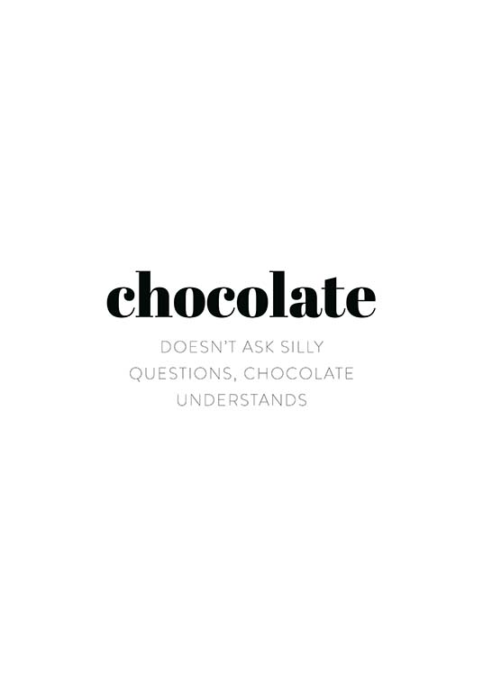 Chocolate Poster / Text posters at Desenio AB (11626)
