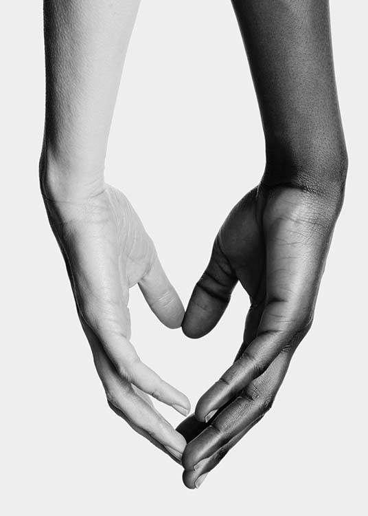 Holding Hands No1 Poster / Black & white at Desenio AB (11706)