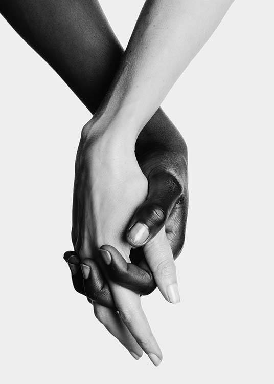 Holding Hands No2 Poster / Black & white at Desenio AB (11707)