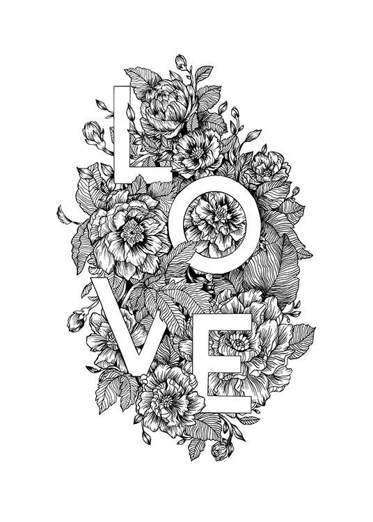 Blooming Love Poster / Text posters at Desenio AB (11736)