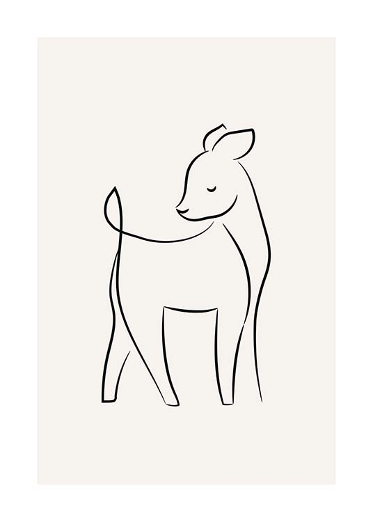 Young Deer Poster / Kids posters at Desenio AB (11746)