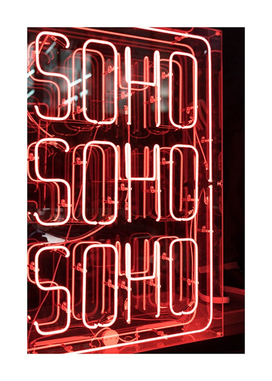 Neon Soho Poster / Photography at Desenio AB (11814)